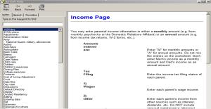 Income Page Snip